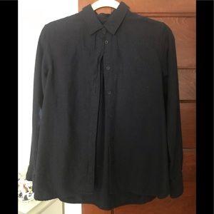Uniqlo cotton button down w/ patch pockets